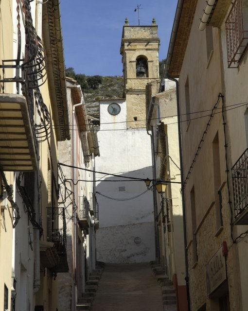 costa blanca alcala tollos campanario iglesia escaleras
