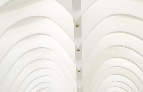 COSTA BLANCA ALCOY Interior de la Lonja obra de Calatrava