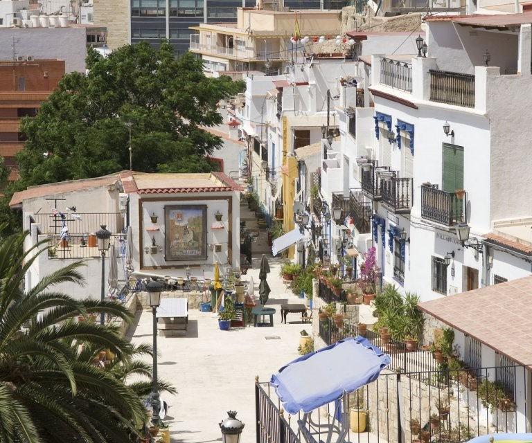costa blanca alicante barrio santa cruz