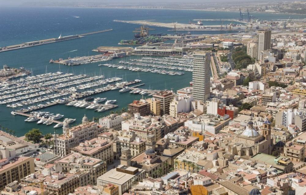 costa blanca alicante panoramica puerto ciudad