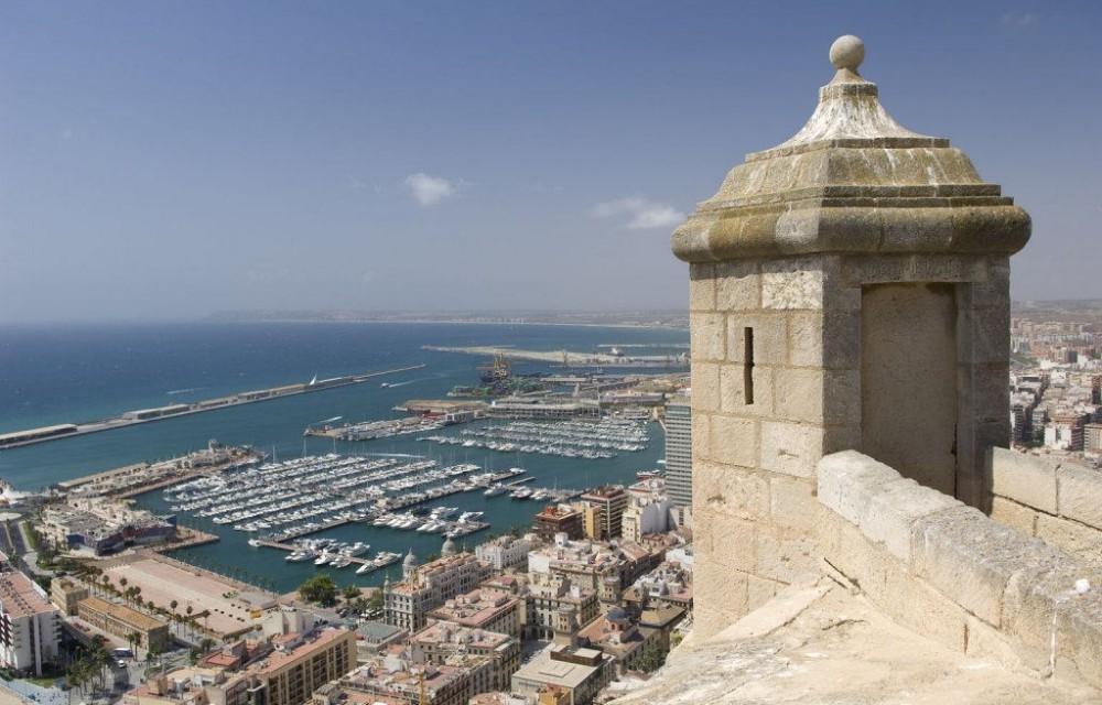 costa blanca alicante torre castillo puerto