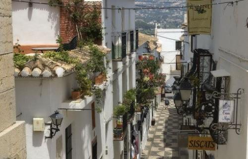 costa blanca altea calle bonita del pueblo