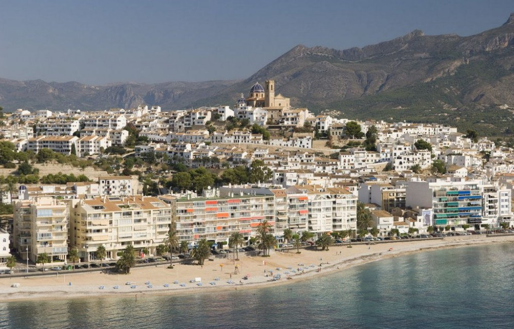 costa blanca altea panoramica ciudad y playa