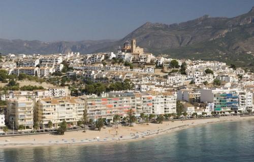 costa blanca altea panoramica ciudad y playa