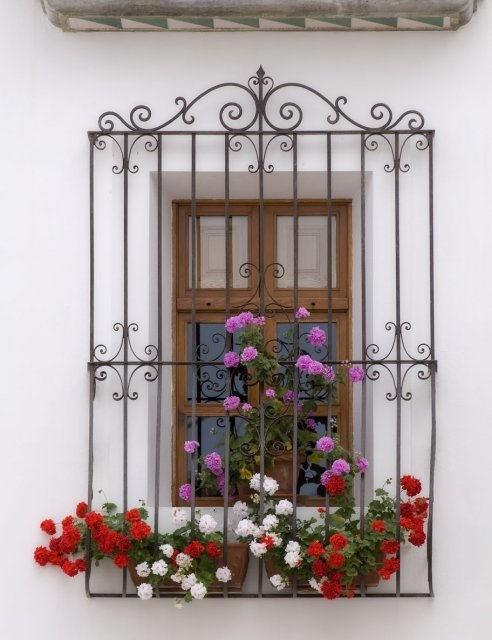 costa blanca altea ventana con flores