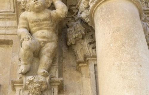 COSTA BLANCA VINALOPÓ MEDIO ASPE Iglesia de la Vírgen del Socorro Detalle de la fachada Barroco Siglo XVII
