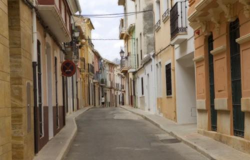 costa blanca beniarbeig calles del pueblo