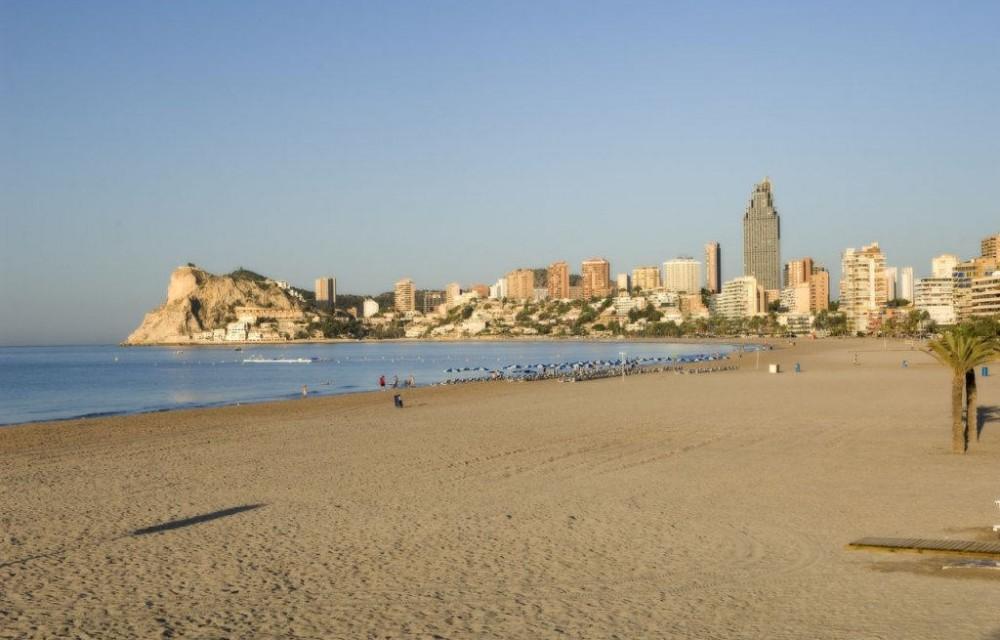 costa blanca benidorm amanecer playa
