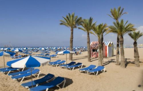 costa blanca benidorm dia de playa corriente