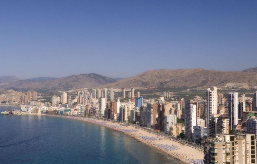 costa blanca benidorm edificios de playa levante
