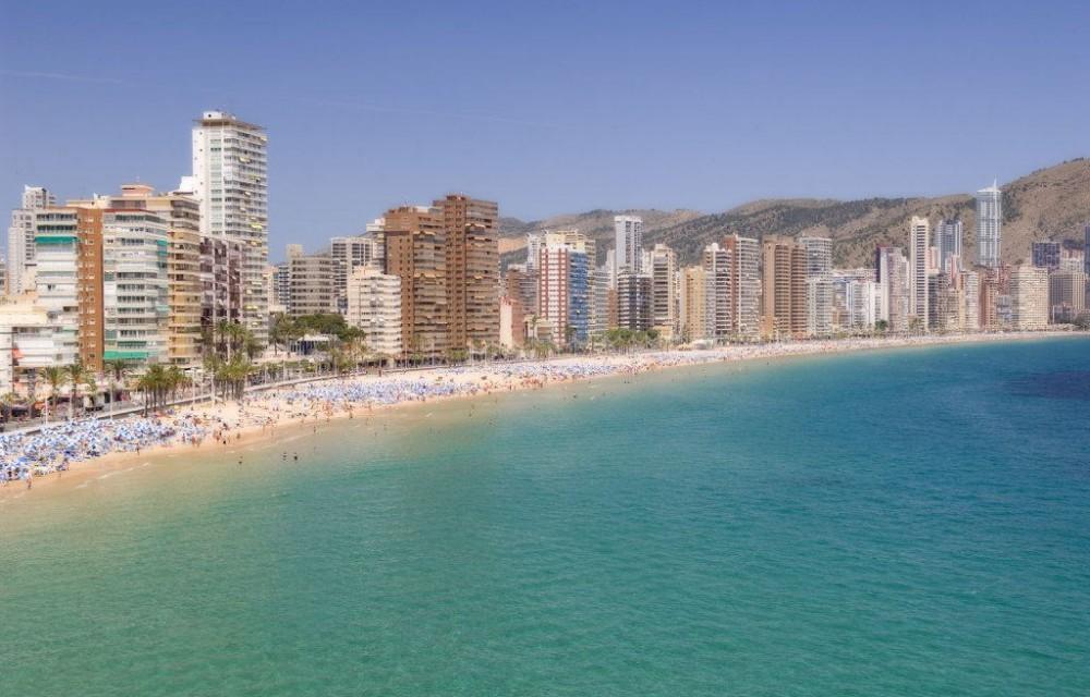 costa blanca benidorm edificios playa de levante