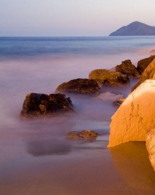 costa blanca benidorm espuma playa mal pas