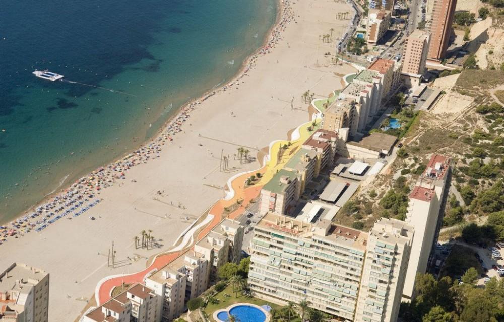 costa blanca benidorm playa aerea