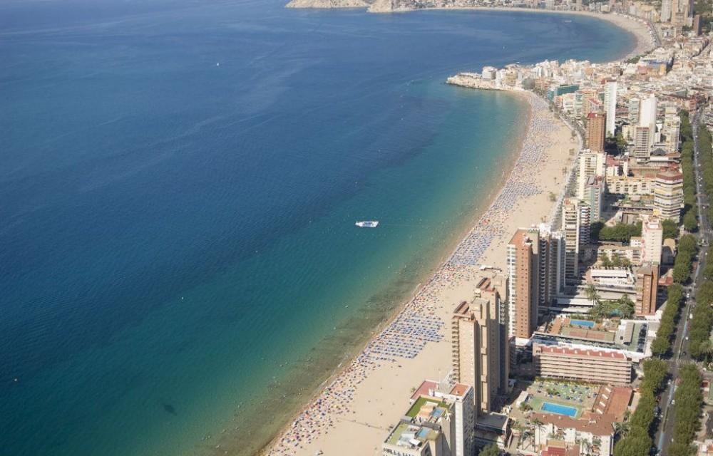 costa blanca benidorm playa levante panoramica