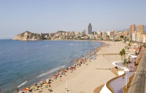 COSTA BLANCA MARINA BAIXA BENIDORM Playa de Poniente y nuevo Paseo Marítimo