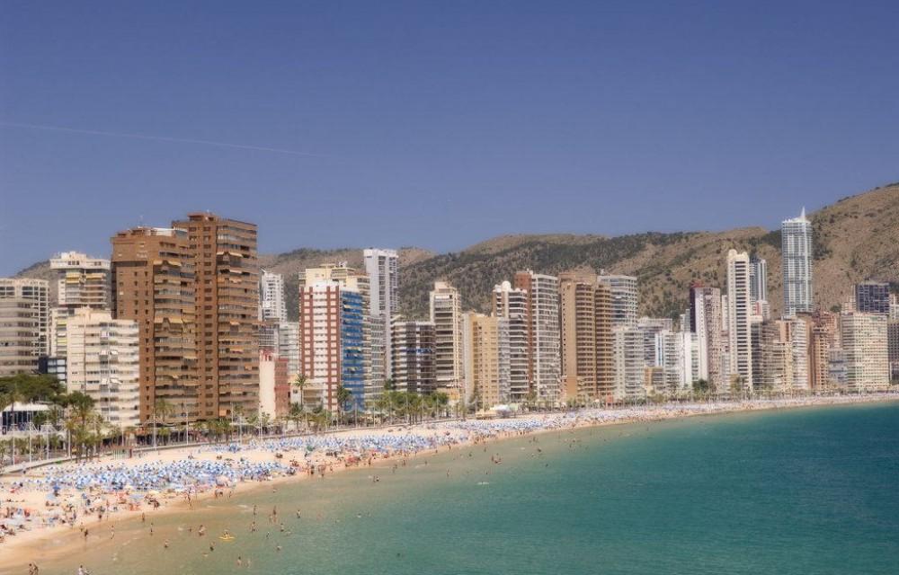 costa blanca benidorm playas y torres
