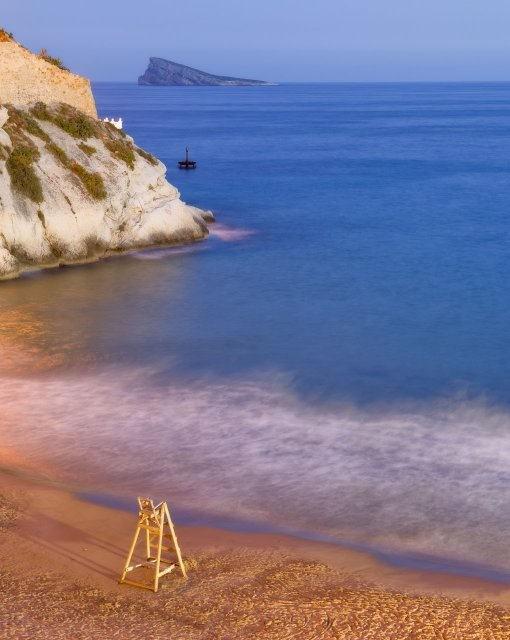 costa blanca benidorm precioso anochecer playa mal pas
