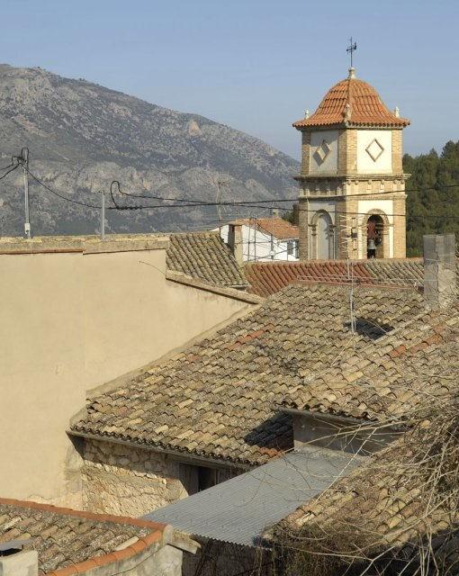 costa blanca benifato iglesia entre tejados