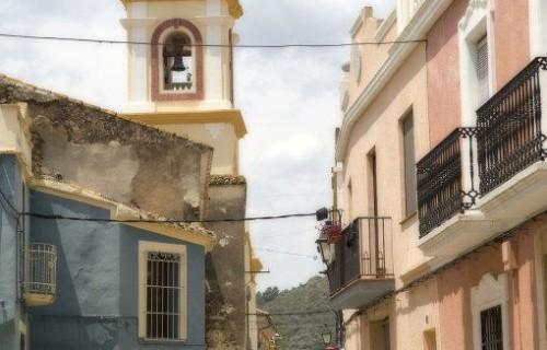 costa blanca benimeli iglesia y casas del pueblo