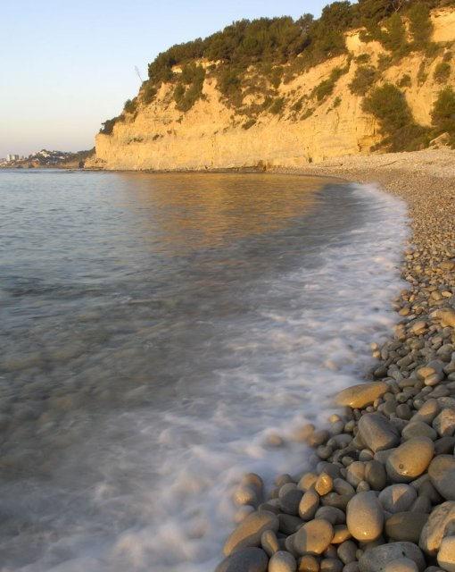 costa blanca benissa atardecer en la orilla del mar