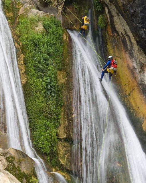 costa blanca bolulla escaladores de cascadas