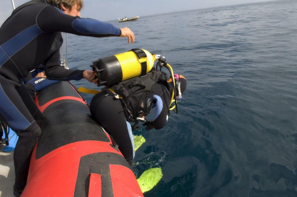 costa blanca buceo inmersión en el agua