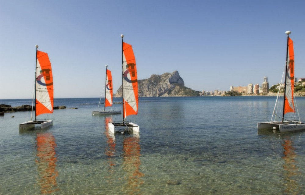 costa blanca cala les basettes aventura en catamaran