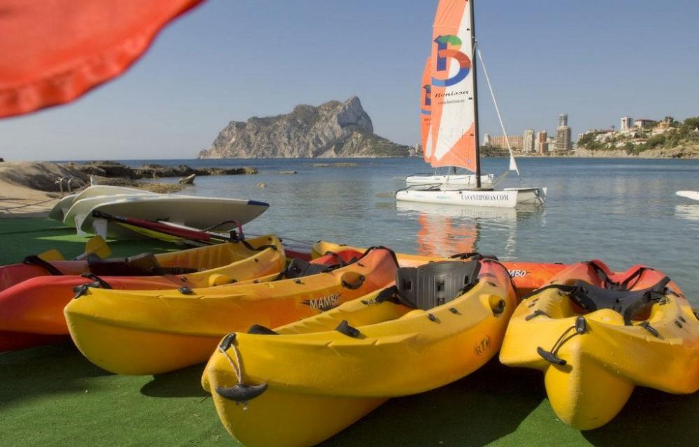 costa blanca cala les basettes kayak y vela