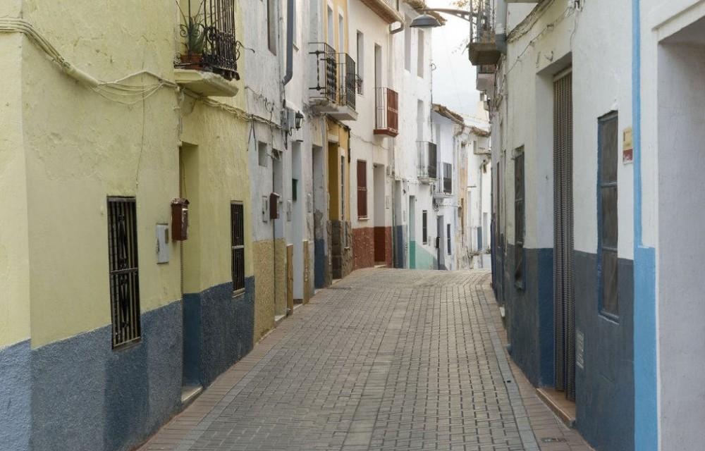 costa blanca callosa den sarria preciosa calle del pueblo