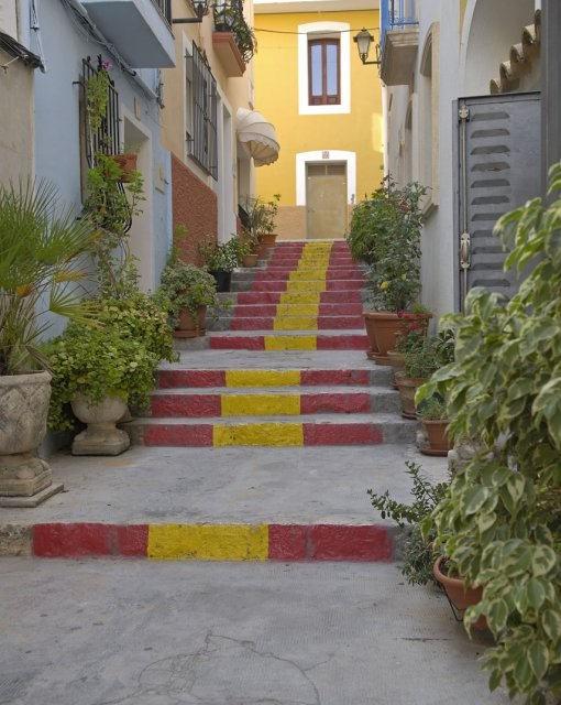 costa blanca calpe escaleras de espana