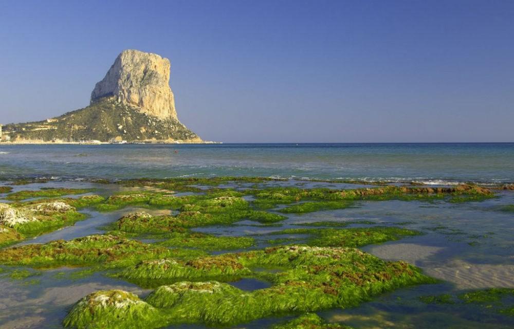 costa blanca calpe penon y fango del mar