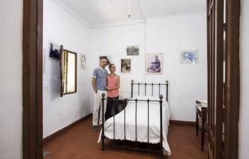 COSTA BLANCA MUSEO MIGUEL HERNANDEZ casa antigua de orihuela dormitorio rustico