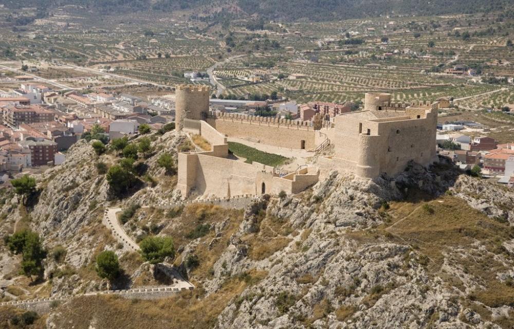 costa blanca castalla panoramica castillo del pueblo
