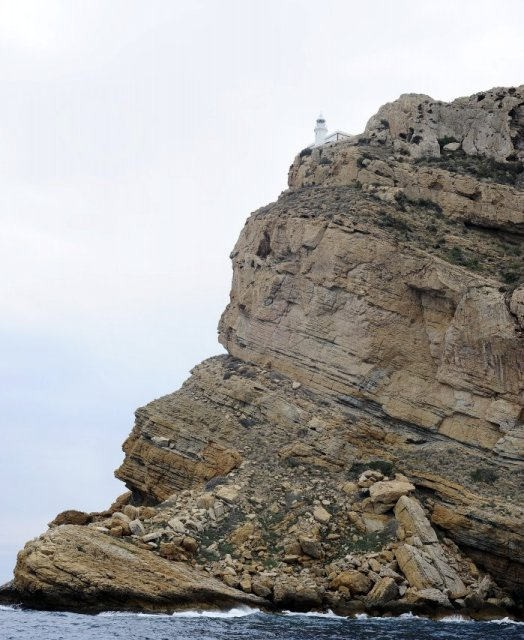 costa blanca catamaran faro en lo alto de montana