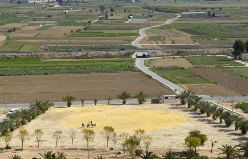 COSTA BLANCA LA VEGA BAJA COX Vista de los huertos desde el Castillo