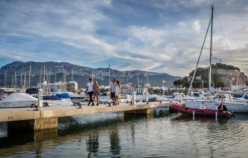 COSTA BLANCA DÉNIA vista del puerto y del Montgo