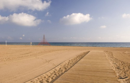 costa blanca denia arena fina en playa les deveses