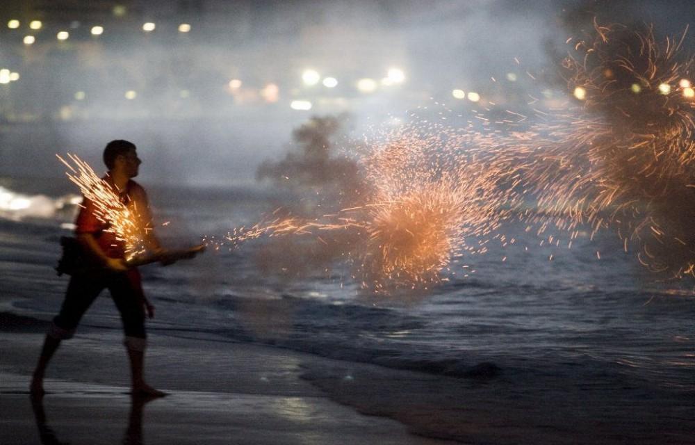 costa blanca desembarco la vila actividad con fuego