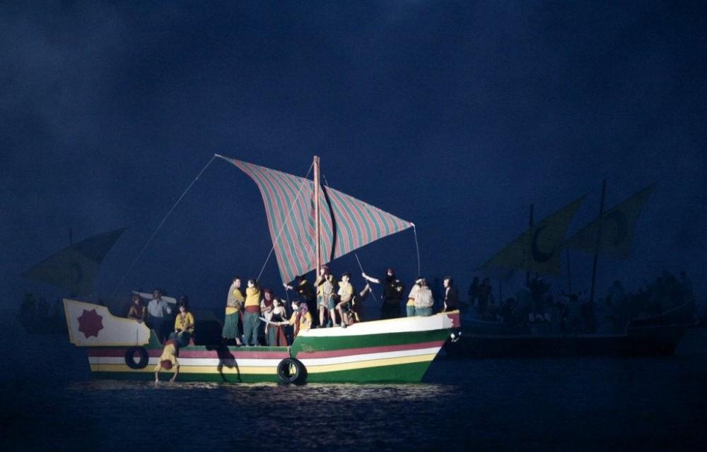 costa blanca desembarco la vila acto nocturno del barco