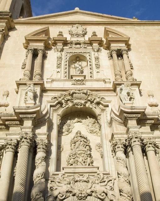 costa blanca elche fachada bonita de basilica santa maria