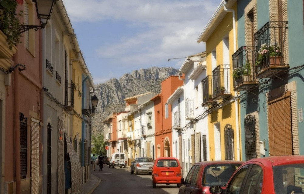 costa blanca els poblets tradicional calle del pueblo
