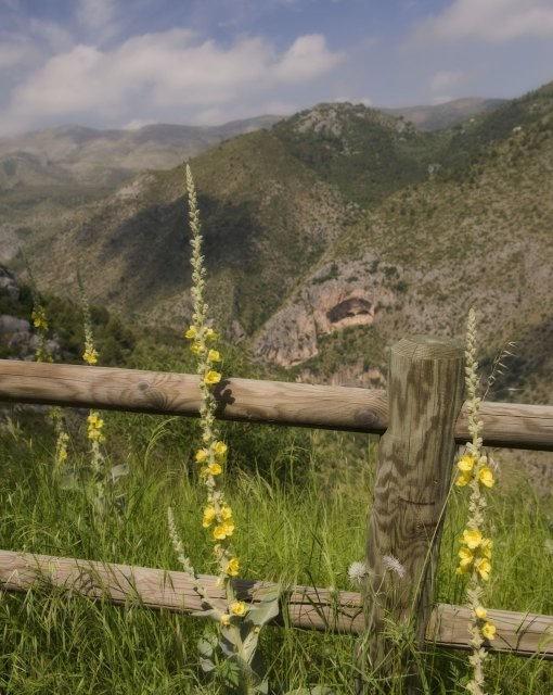 costa blanca fleix vista de las montanas