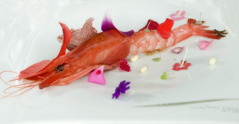 costa blanca gastronomia magnifico plato de gamba roja