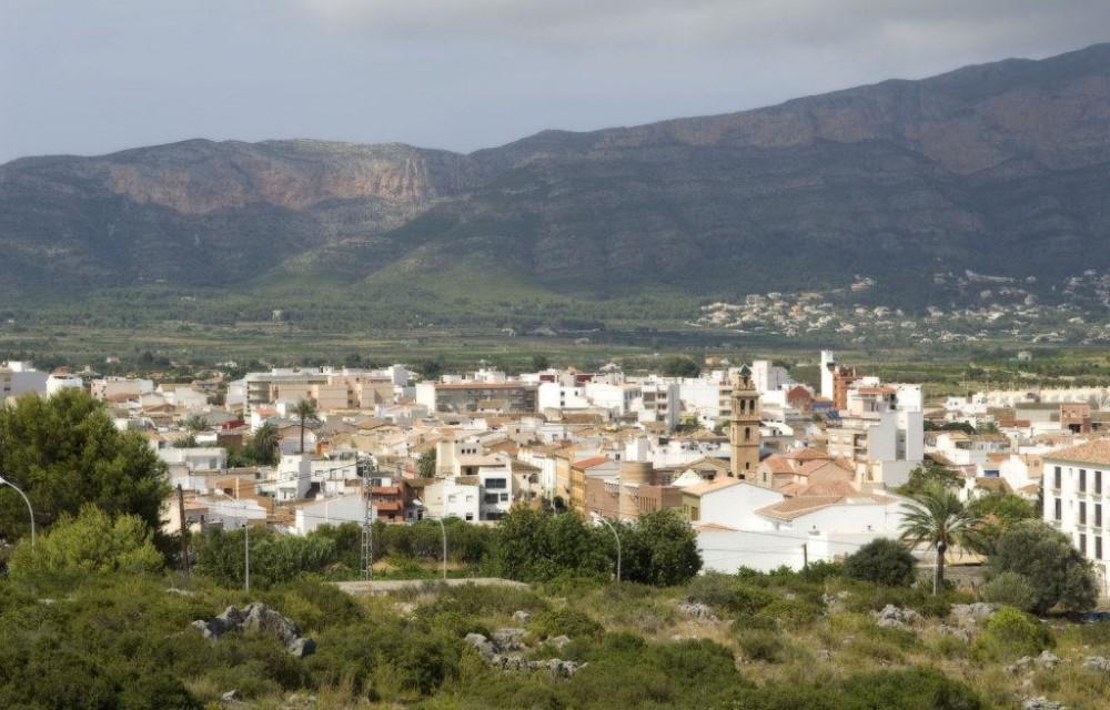 costa blanca gata gorgos vista aerea del pueblo