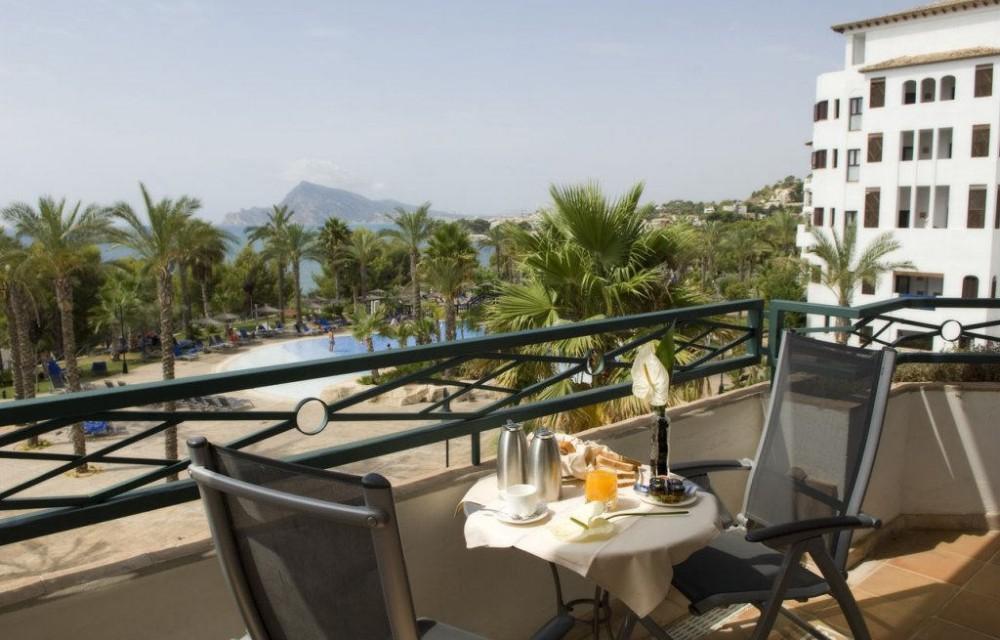 costa blanca hotel villagadea altea balcon vistas a piscina comun
