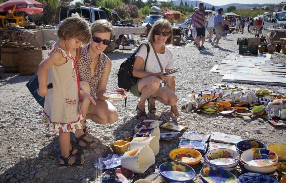 costa blanca jalon platos artesanos del mercadillo