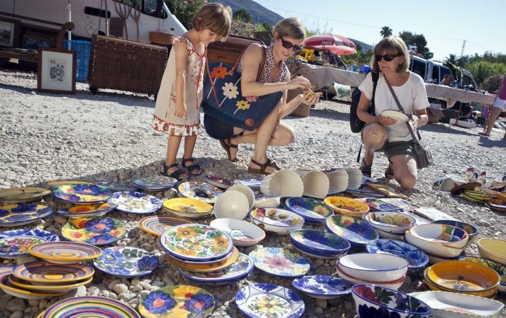 costa blanca jalon platos de artesania del mercadillo