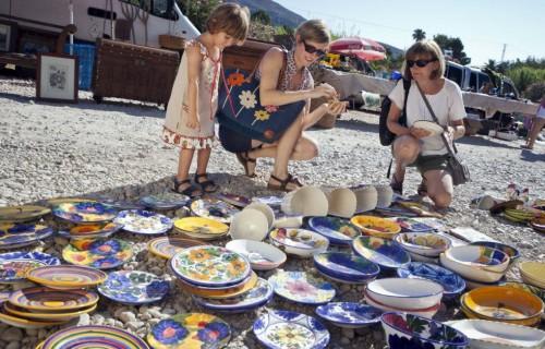 COSTA BLANCA JALON platos artesanos en mercadillo