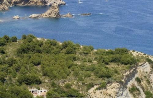 COSTA BLANCA JÁVEA Cala Barraca o del Portichol desde el Mirador de La Falzia