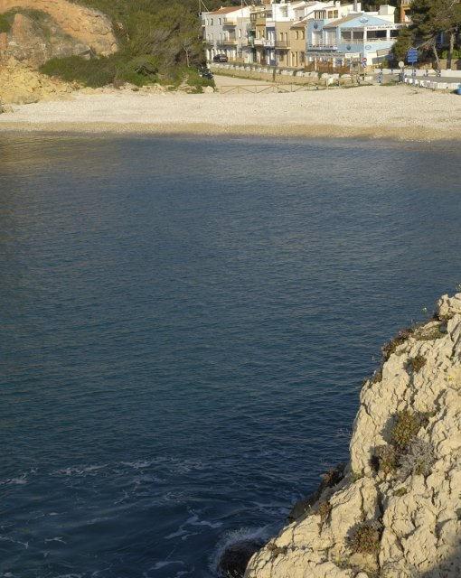 costa blanca javea cala de rocas desde una montana